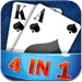 Card 4in1(solitaire,freecell,hearts,spider )HD